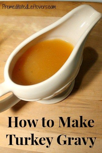 how to make your own gravy from turkey