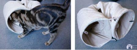 tunnel pour chat l'escargot!- tunnel natural zooplus- idées simples et pas chères pour amuser les chats- Absolument Chats