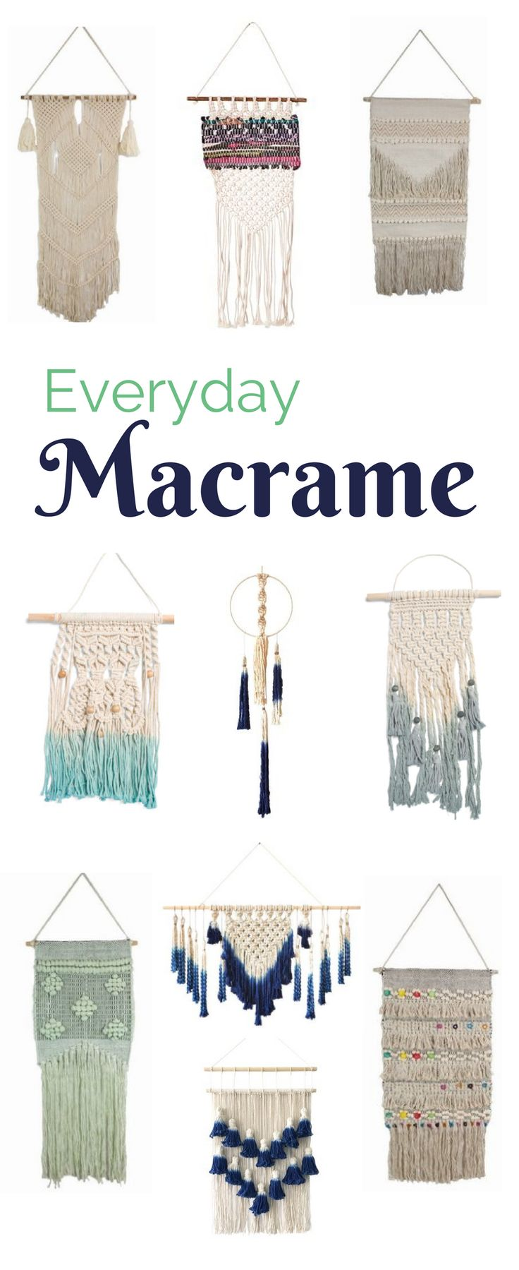 Check out everyday Macrame. Perfect for all home or office decor.