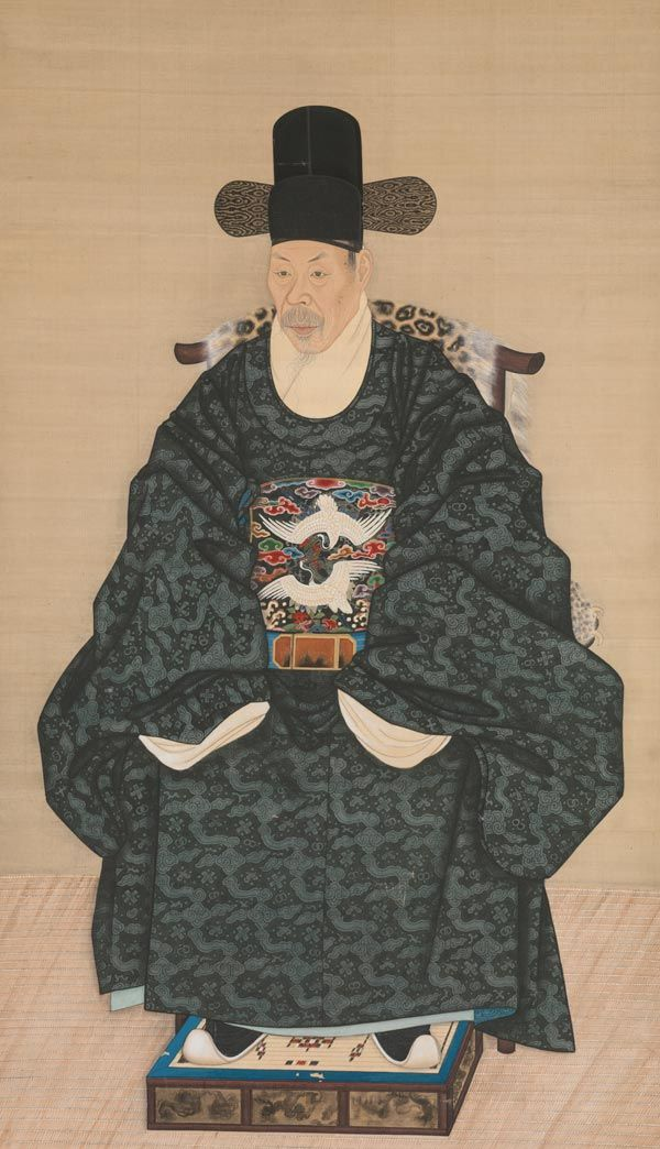 Unidentified Artist Korean, late 18th–early 19th century. Portrait of Yun Dongseom (1710–1795), ca. 1790–1805. Korea, Joseon dynasty (1392–1910). Hanging scroll
