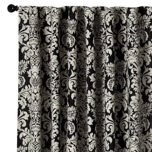 Curtains Ideas black and white damask curtains : 17 Best images about curtains on Pinterest | Damask curtains ...