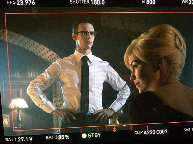 @corymichaelsmith and @chelseaspack are ready for their close-ups. : @chelseaspack #Gotham #BehindTheScenes #SetLife