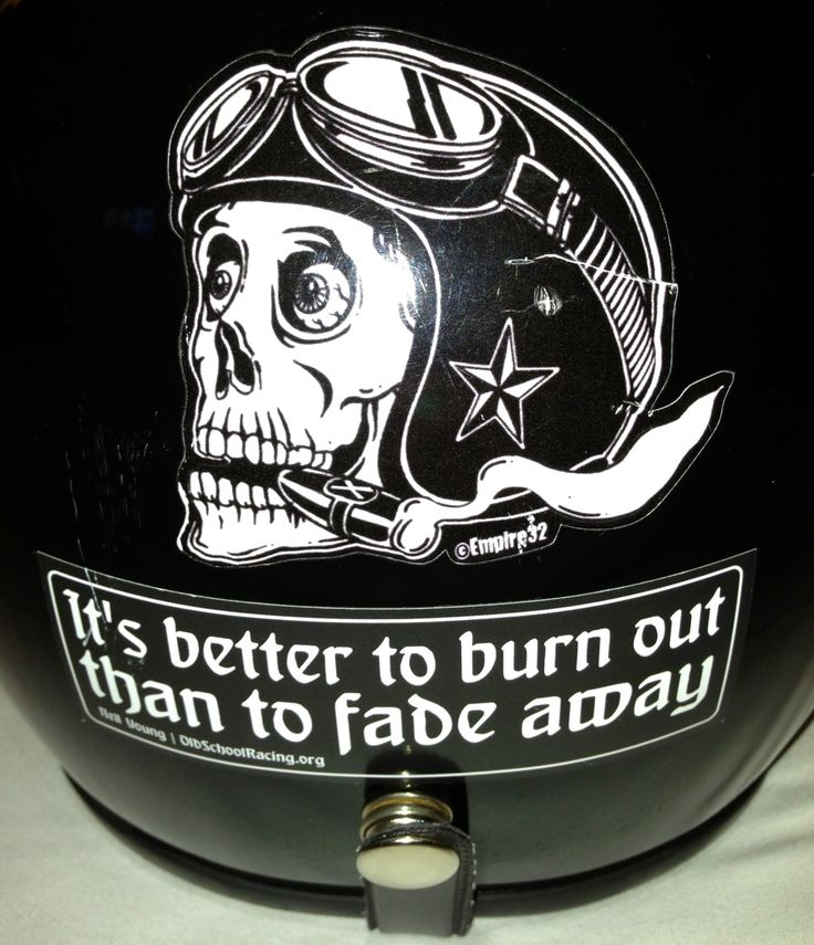 My best sticker motorcycle helmet burnout