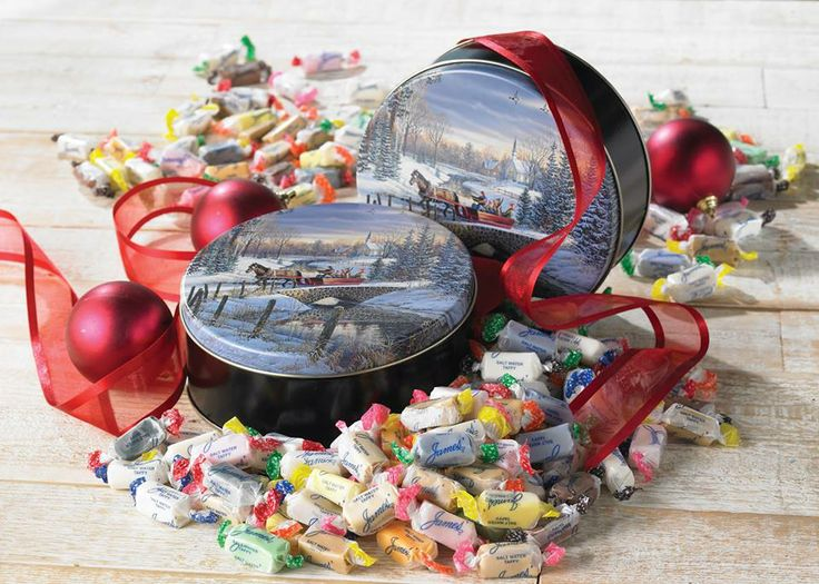 Our salt water taffy is perfect for the holidays.
