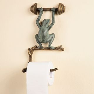 Love this frog toilet paper holder!
