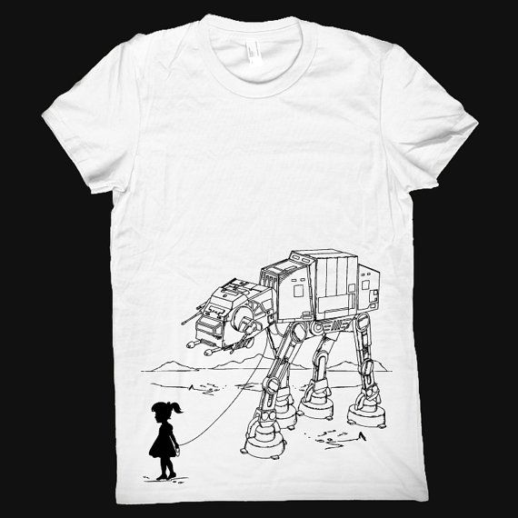 My Star Wars ATAT Pet  American Apparel Womens t by ironspider, $23.00