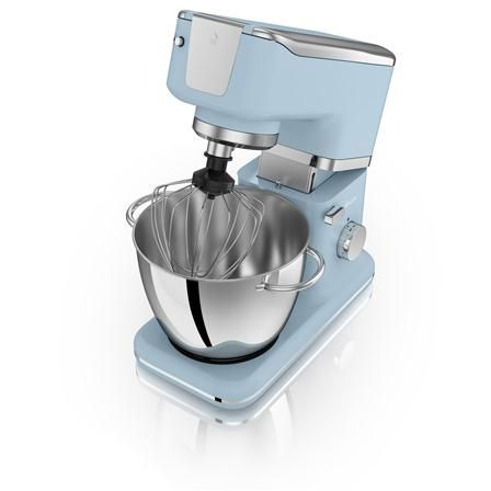 Swan Retro 1000W Stand Mixer, In Blue