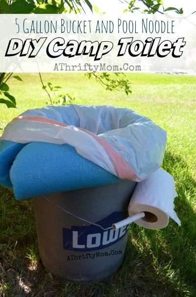 Camping Toilet, portable   and low cost all you need is a 5 gallon bucket and a pool noodle, camping ideas, Outdoor living, Popular camping ideas
