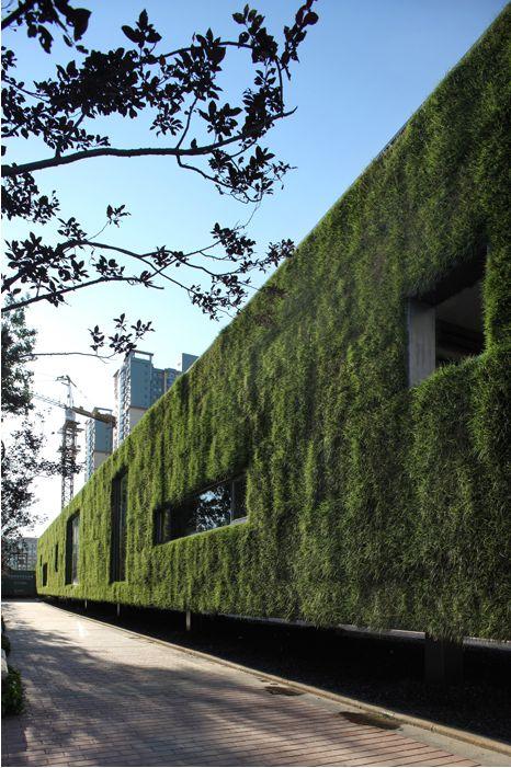 Groen gebouw/showroom