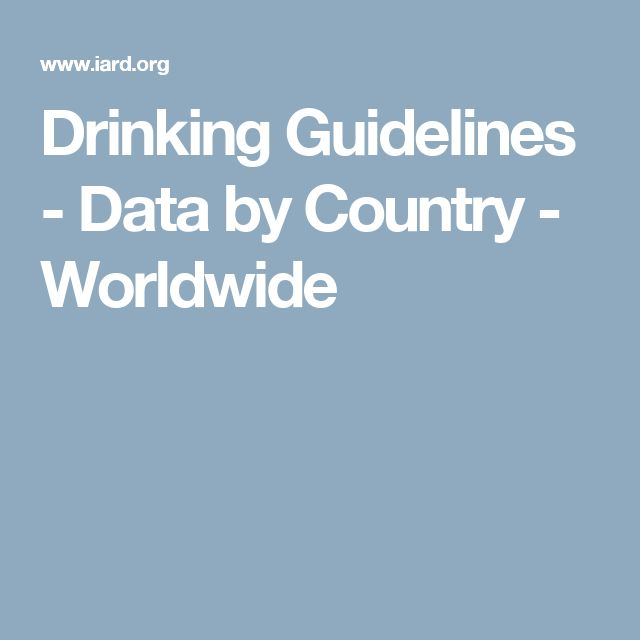 Drinking Guidelines - Data by Country - Worldwide