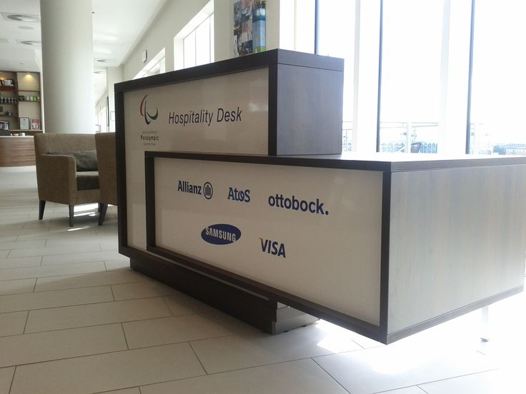 Foro reception desk - project for Paralympics 2012 in London