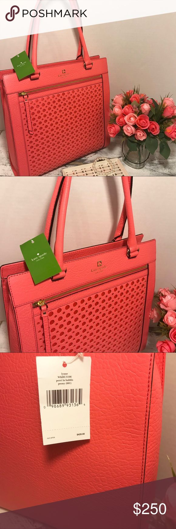 "Cyber Monday Sale NWT Kate Spade Coral handbag NWT $428 13"" L 13"" W 4"" Wide 20"" handles kate spade Bags Shoulder Bags"