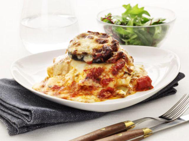 Vegetarisk lasagne med aubergine (kock Christian Campogiani)