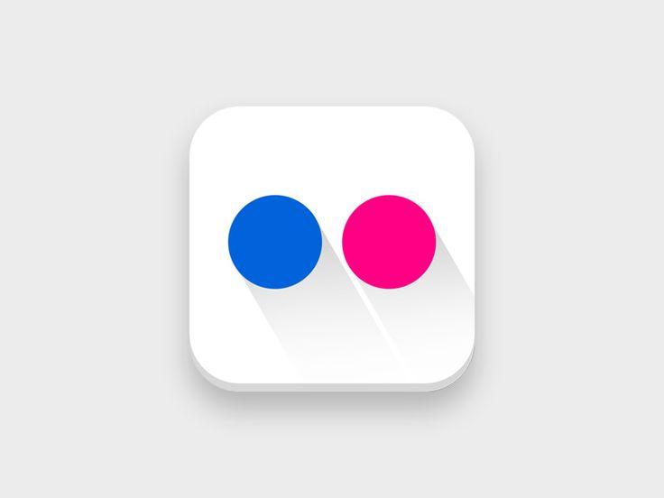 Flickr iOS app inspiration Icon by Myrto Orfanoudaki Simic