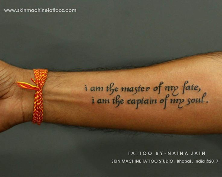 Awesome Literary Quote Tattoo on Wrist