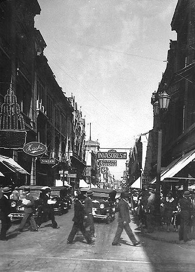 """""""Calle Ahumada. aviso colonia atkinson"""" (ca 1920-1930)"""