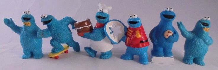 Lot of 6 Vintage Muppets Sesame Street PVC  Figure Toys Cookie Monster  #Applause