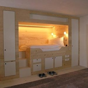 Built-In Bed (add curtain and window)