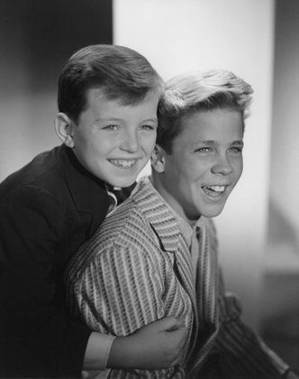 The Cleaver Boys: Jerry Mathers and Tony Dow, Leave it to Beaver TV show. 1957-1963