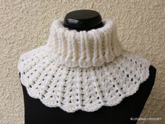 CROCHET Neck Warmer PATTERN Chunky Crochet Scarf by LyubavaCrochet