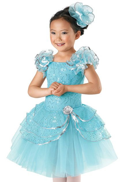 Girls' Long Layered Ballet Dress; Weissman Costume