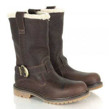 Get ready for winter with these sturdy, stylish premium leather boots by Timberland - pull them on and you'll walk the city streets or woodland trails in comfort and with confidence.