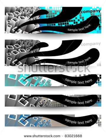 stock vector : Web banner design set, vector banners collection.