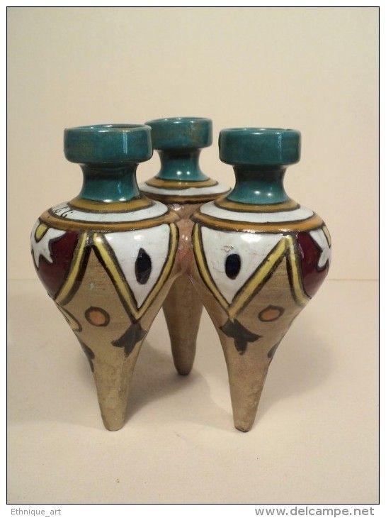 Vase Bouquetière Céramique Tunisienne  Faiënce de Tunisie  LouisTissier  Nabeul vers 1930 Tunisian ceramic ceramica