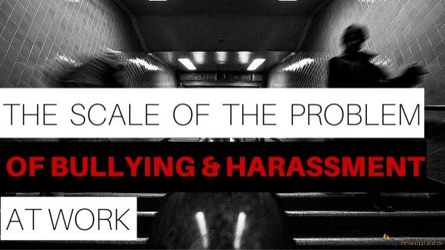 This presentation shows the real scale of the problem of bullying and harassment at work. If you don't resolve workplace conflict early on, bullying and harassment can escalate. Presented by CMP Resolutions.