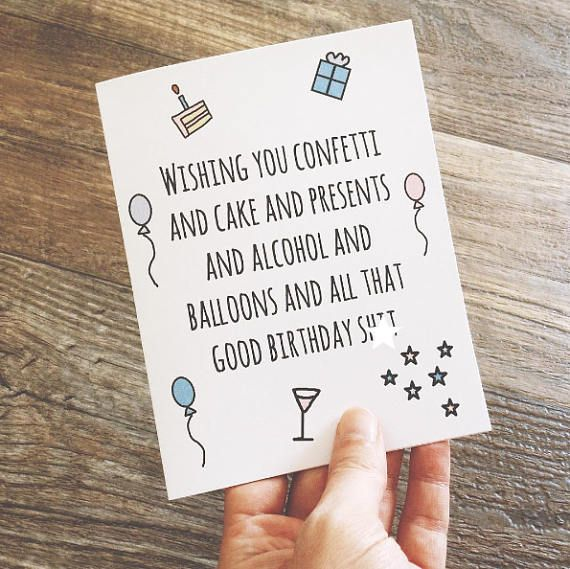 Gift For Her Funny Birthday Card Best Friend Birthday Card Wishing You Good Birthday Shit In 2021 Birthday Cards For Friends Best Friend Birthday Cards Happy Birthday Cards Printable