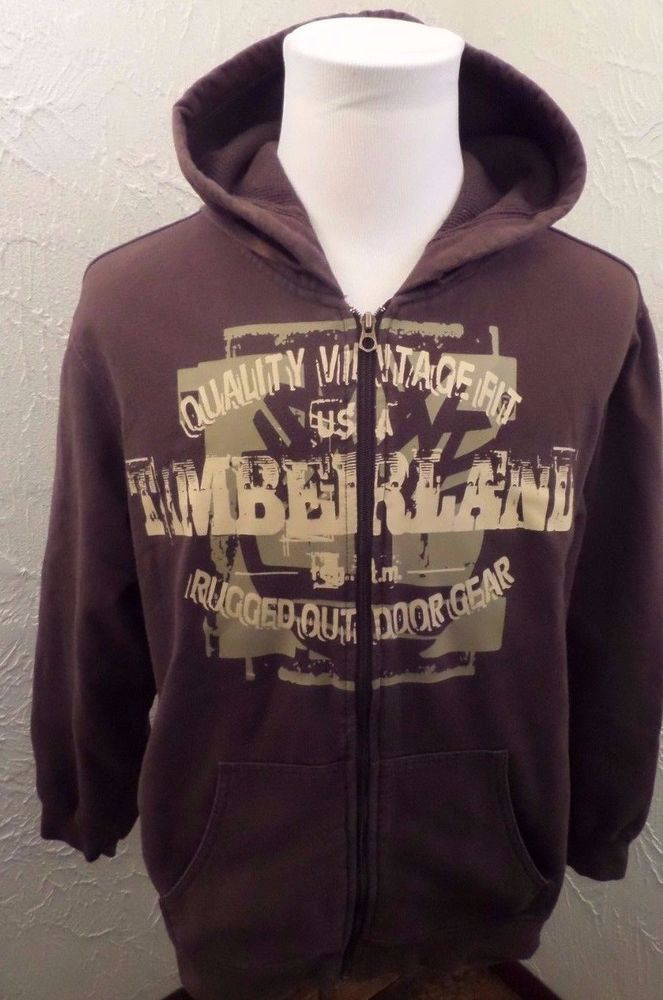 MEN\u0027S VINTAGE FIT TIMBERLAND RUGGED OUT DOOR GEAR FULL ZIP UP HOODIE SZ LARGE #Timberland & 25+ best ideas about Timberland hoodie on Pinterest | Weed socks ... Pezcame.Com