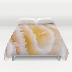 Sunny Yellow Agate Duvet Cover #agate #quartz #rocks #minerals #crystals #prettystuff #hygge