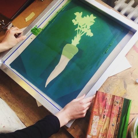 Illustrator, textile designer and screen printer Lottie Day blogs about hand making her products in Norwich, England.