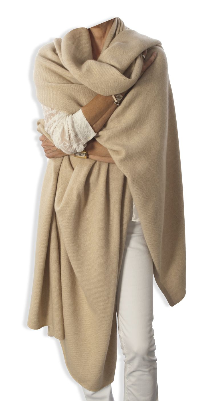 This stunning oversized cashmere wrap in the very popular oatmeal colour is the…