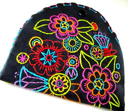 Carnival Clutch | Bright bold hand embroidered flowers and c… | Flickr