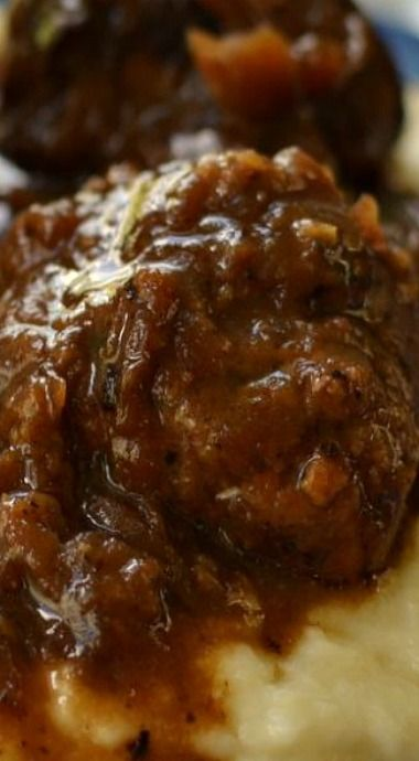 French Onion Meatballs & Smashed Cauliflower                              …