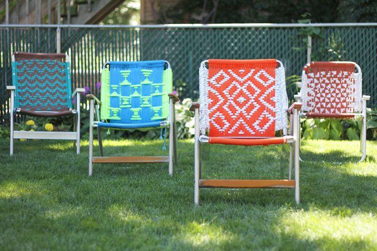 Tutorial Macrame Lawn Chair Diy Macrame Pinterest