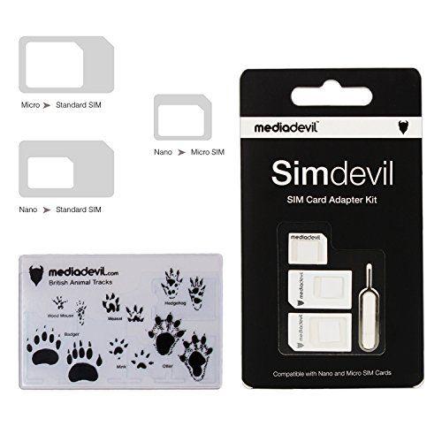 MediaDevil Simdevil 3-in-1 SIM-Karten Adapter Set (Nano/Mikro/Standard) 4 Packungen