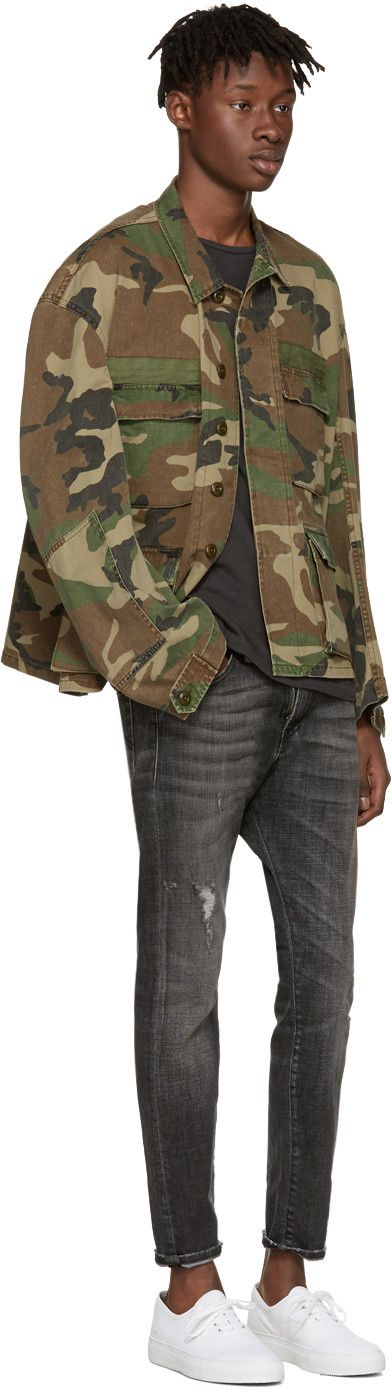 R13 - Green Camo Misfit Field Jacket