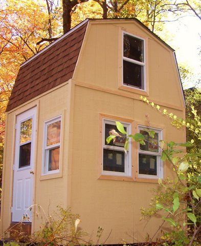 micro-home-fin-ext-006  8X8 Micro home with solar electricity and composting toilet, do it yourself