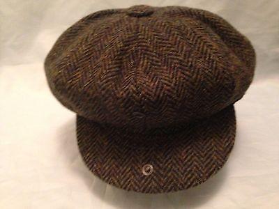 DARK GREEN HARRIS TWEED HAT 100% WOOL NEWSBOY 20'S 30'S PEAKY BLINDERS CAP      | eBay