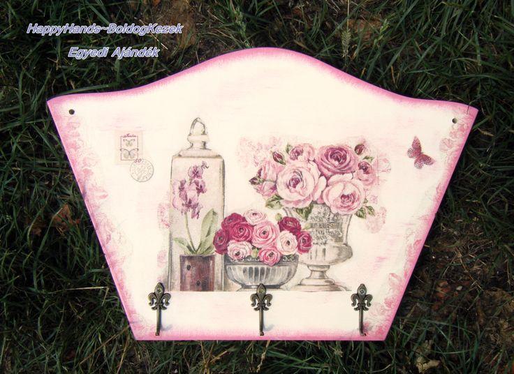 Rózsás-orchideás fogas https://www.facebook.com/happyhands.egyediajandekok