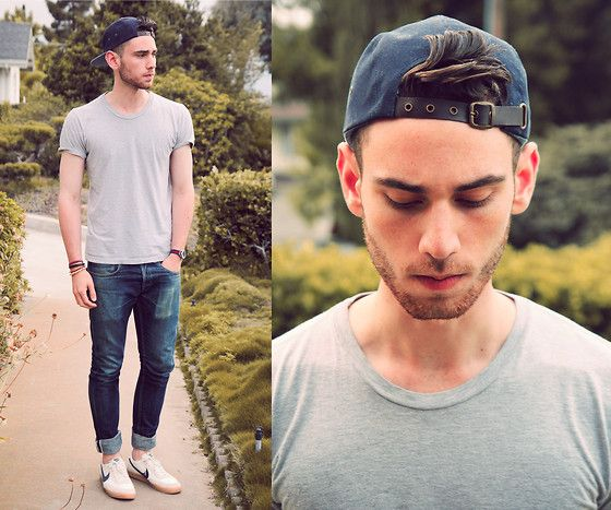: Men Style, Street Style, Style Everyday, Hats Backwards, Style Casu, Guys Stylish, Nike Shoes, Streetwear Outfits, Woman Outfits