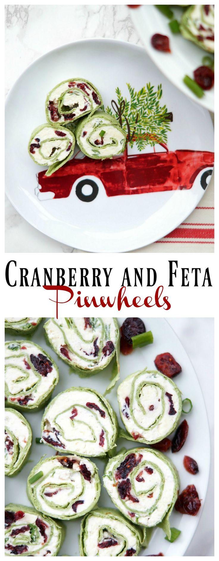 Cranberry and Feta Pinwheels