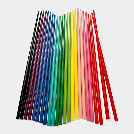 rainbow chopsticks on Modern Kiddo