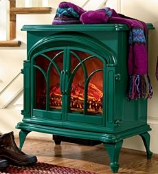 portable-large-electric-stove-with-stay-cool-surface for a time when we have a mantle but no fireplace