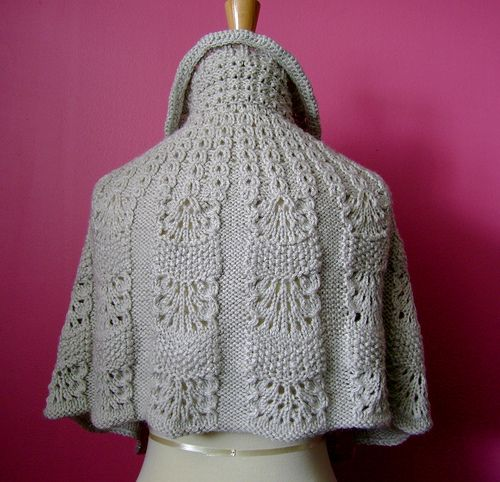Knitted capelet / cape / poncho in a shade of light linen 3 Flickr - Photo ...
