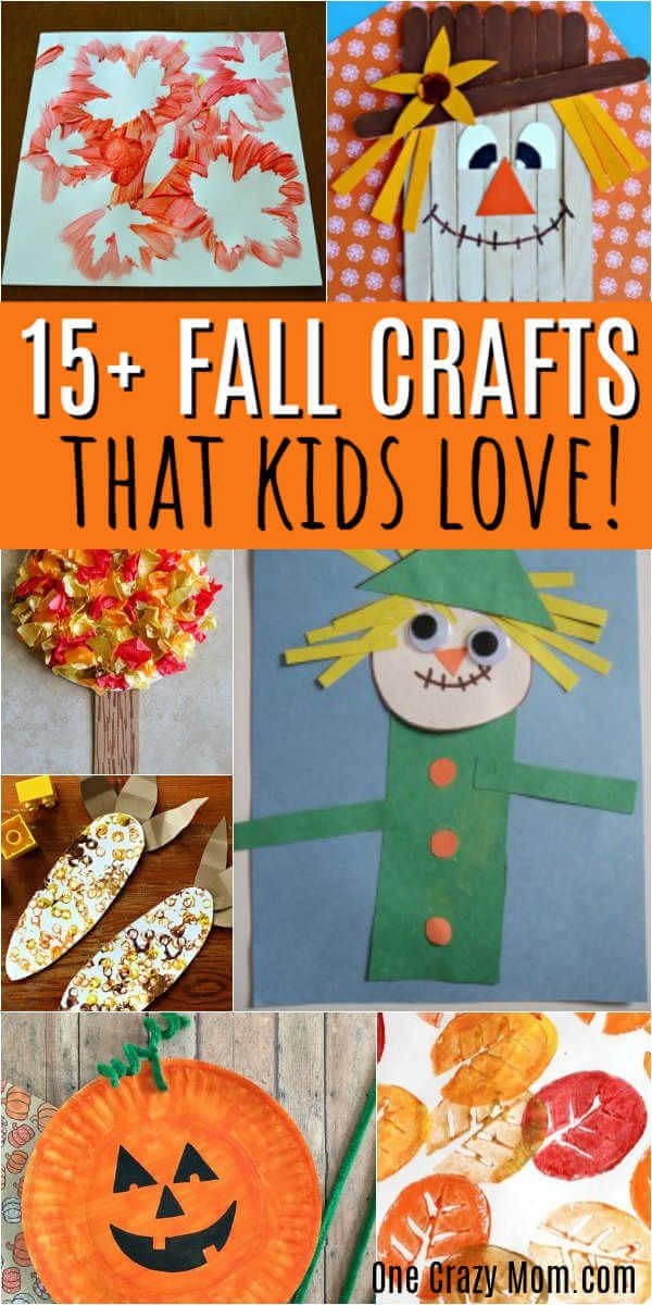 Fall Crafts For Kids Quick And Easy Toddlers More