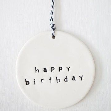 Clay Gift Tag - birthday
