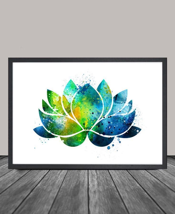 Lotus Flower Wall Art, Lotus Flower Decor, Watercolor Yoga Art, Buddha Art,Wall Art Print Watercolor, Yoga Poster, Lotus Flower Art  (155) by FineArtCenter on Etsy https://www.etsy.com/listing/245255450/lotus-flower-wall-art-lotus-flower-decor